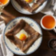 l'atelier d'isa, galette bretonne au sarrasin avec oeuf et bolé de cidre