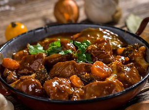 boeuf bourguignon en suggestion au menu