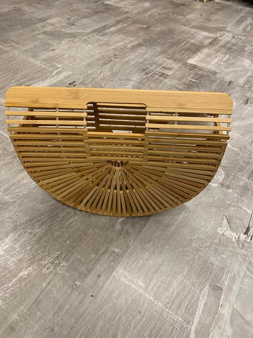 Arc wooden handbag
