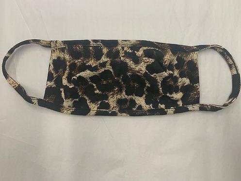 Leopard print fabric mask