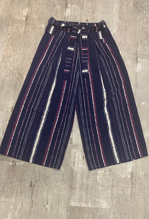 Navy stripe gauchos