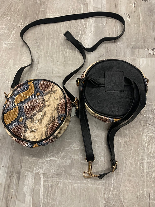 Multi color snake skin belt bag/ Cross body