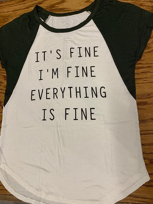 I'm fine graphic tee