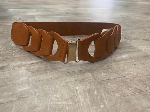 Vegan leather chain loop belt