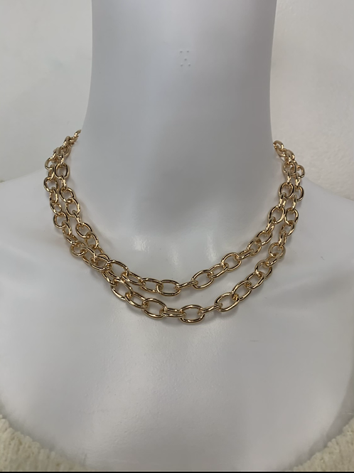 Double Chain and earring set