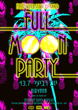 poster for FOOLMOON party