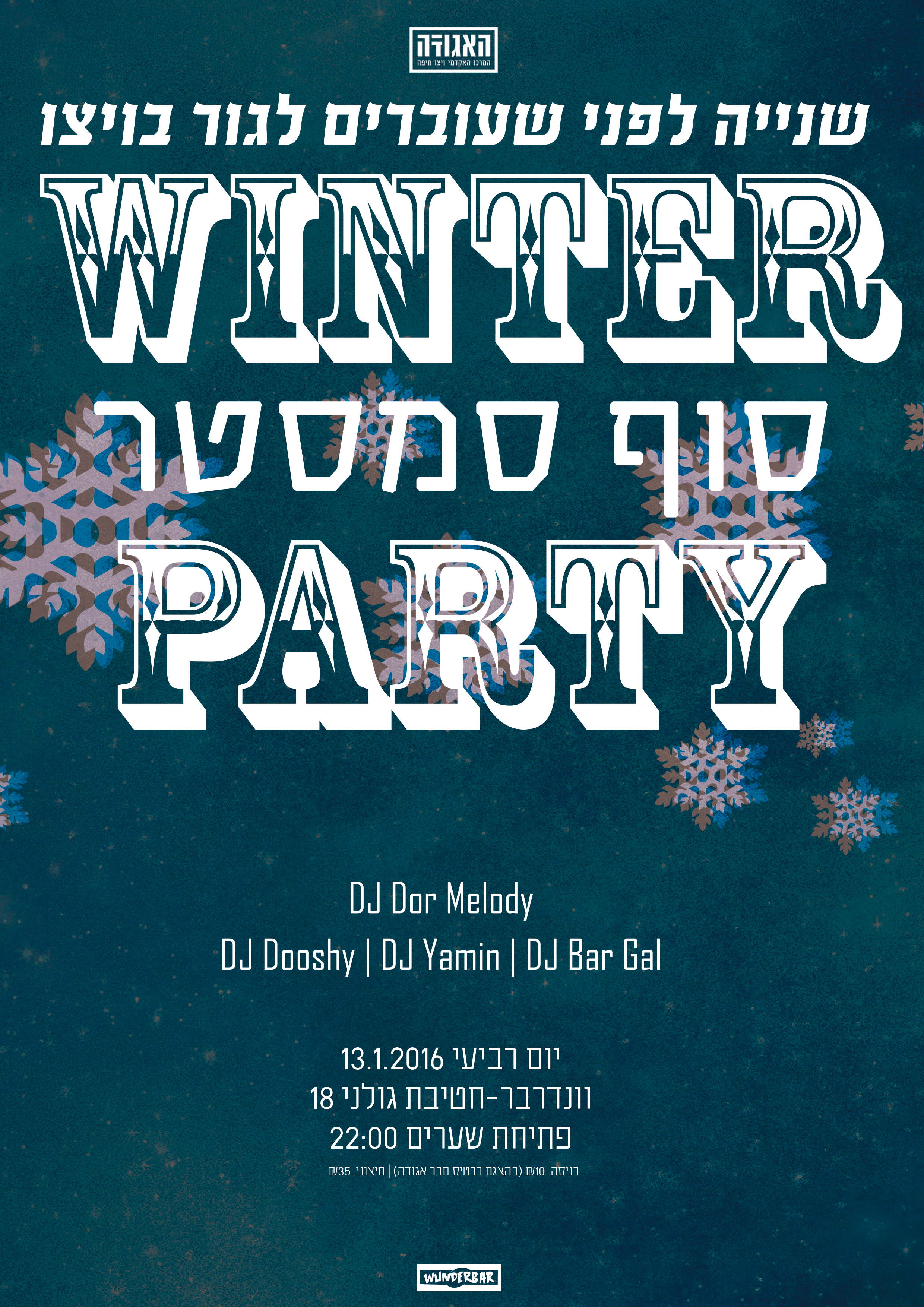 poster for winter party