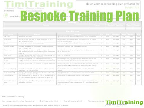 Bespoke Fitness Training Plan🍏 TimiTraining®