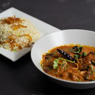 Kali Mirch accompanied with Pilau Rice