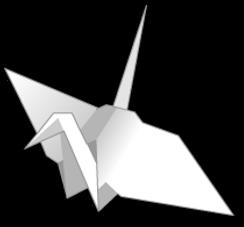 pájaro de Origami