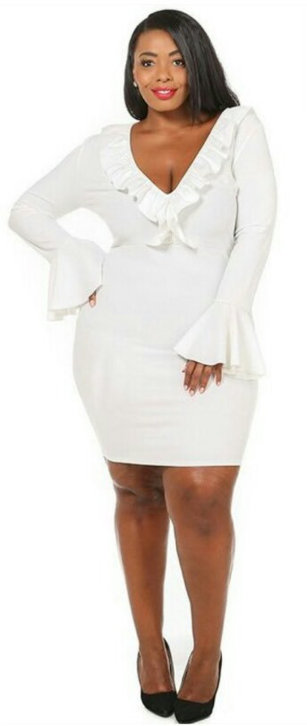 Little White Dress Plus Size