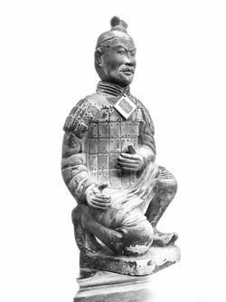 KNEELING CHINESE WARRIOR
