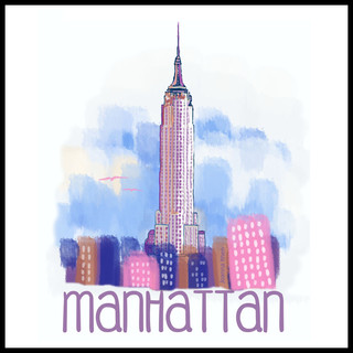 Manhattan watercolor black border.jpg