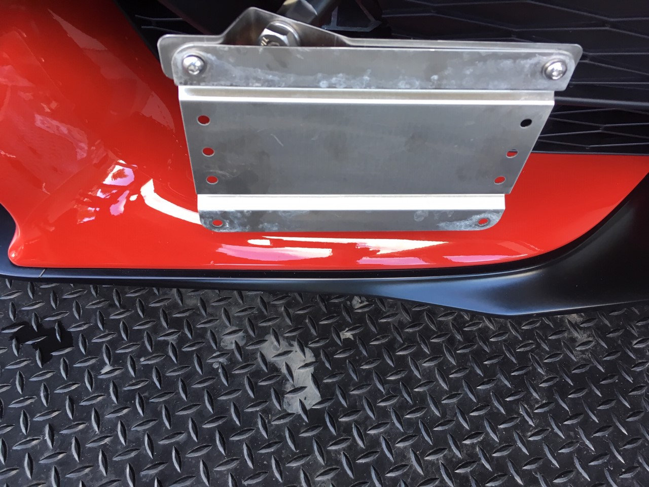 GMG Motorsports Tow Hook No Holes License Plate Bracket for Toyota Supra 2020