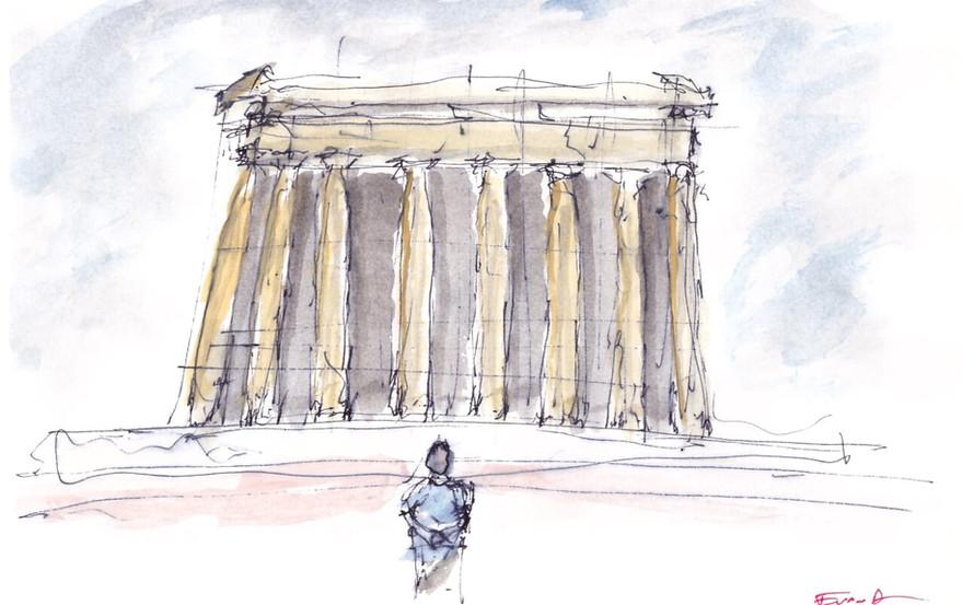 Parthenon Watercolor