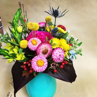 Bouquet très coloré et peps