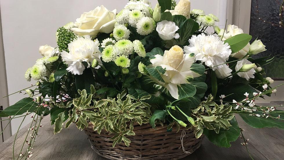 Panier blanc et vert