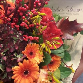 Bouquet harmonieux dans les teintes automnales