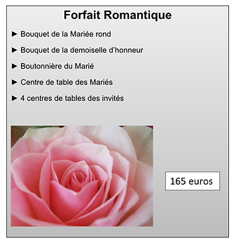 Forfait Romantique