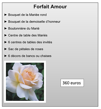 Forfait Amour