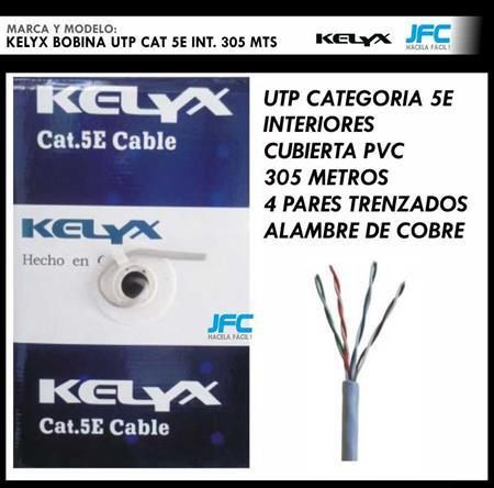 Rollo Cable Red Utp Categoria 5e Bobina 305 Mts 100% cobre