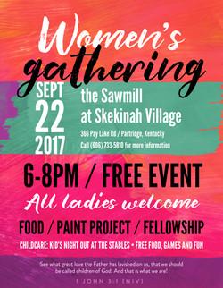 Women's Gathering Flyer