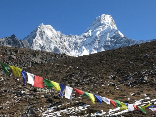 Sampling on Ama Dablam's Summit