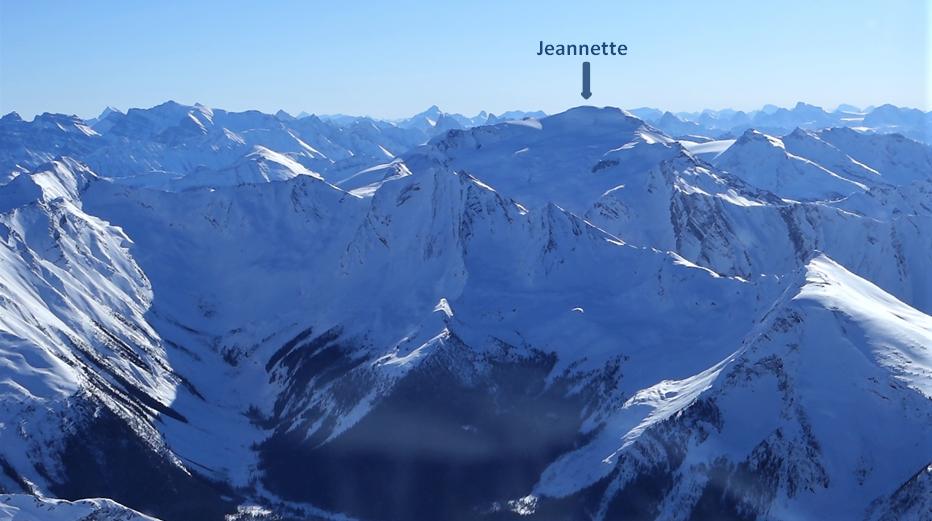 Jeannette Peak 3,089m / 10,135ft.  Located 45km SW of Jasper & 45km SE of Valemount, in the Selwyn Range of the Canadian Rockies – just outside Mount Robson Provincial Park