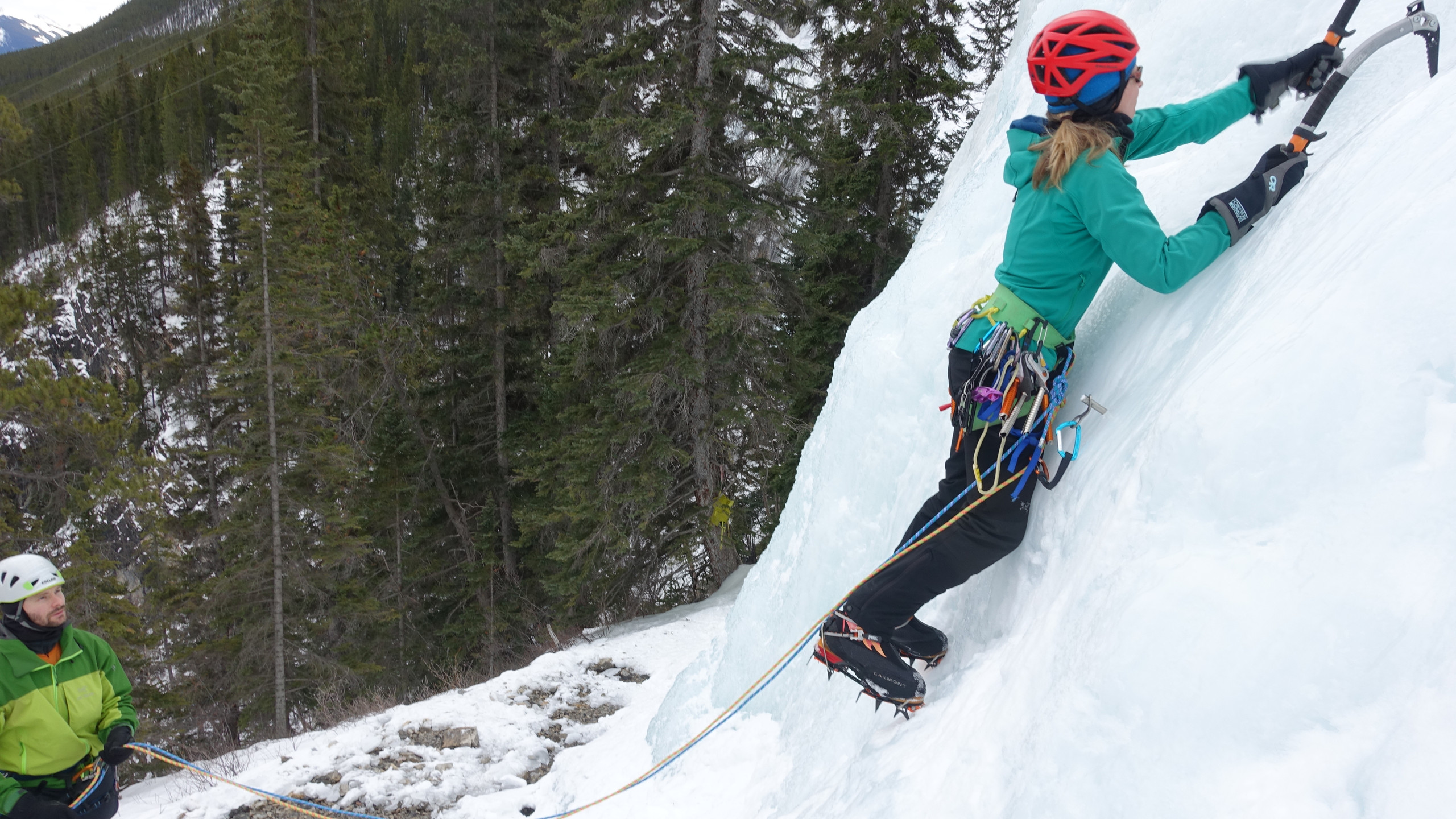 Pascale leading in Canmore 2