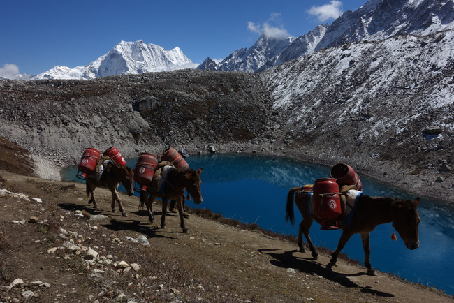 Vertical Nepal: Looking Back Near Tibet