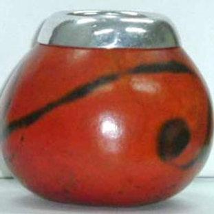 Pumpkin gourd  with metal mount