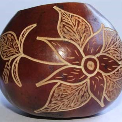 Pumpkin gourd  with engraving