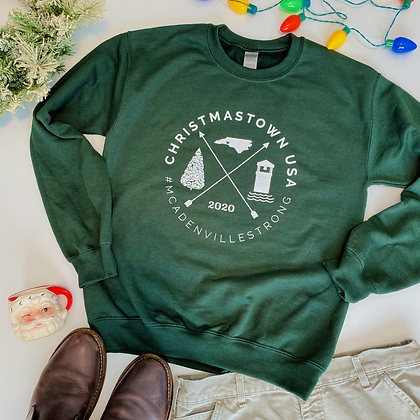 Crew Neck Sweat in Dark Green