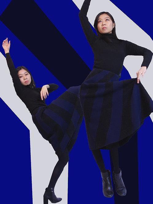 Switching Flare skirt / 縦縞切替フレアスカート