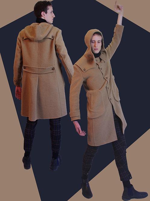 Camel military style coat/キャメル素材ミリタリースタイルコート