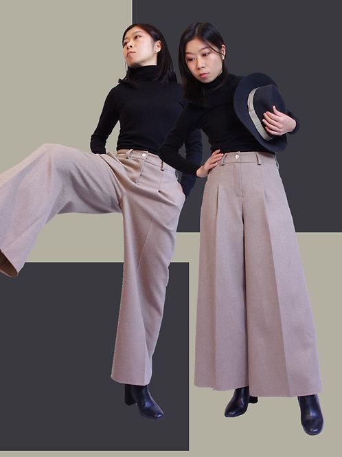 Natural color cashmere wide pants / ナチュラルカラーカシミヤのワイドパンツ
