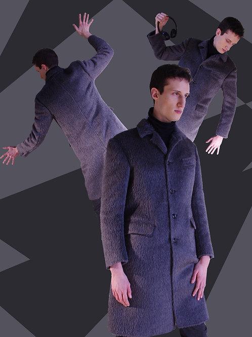 Alpaca grey coat /グレーアルパカのコート