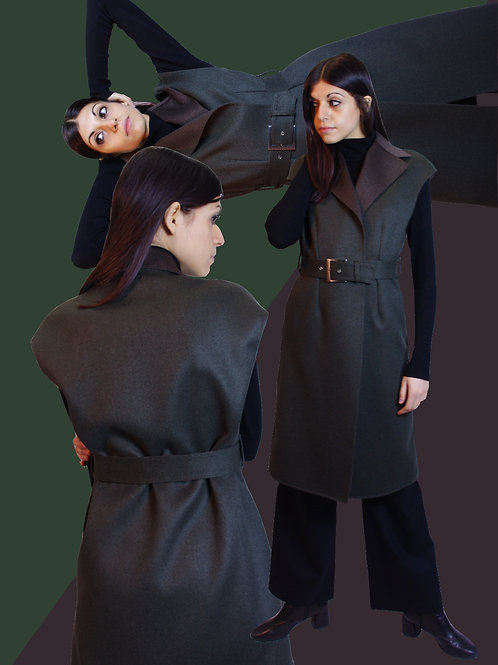 Cashmere long vest / カシミヤロングジレ