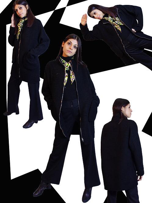 Mix Cashmere black coat / ミックスカシミヤブラックコート