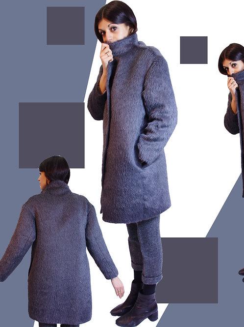 Alpaca grey coat / グレーアルパカコート