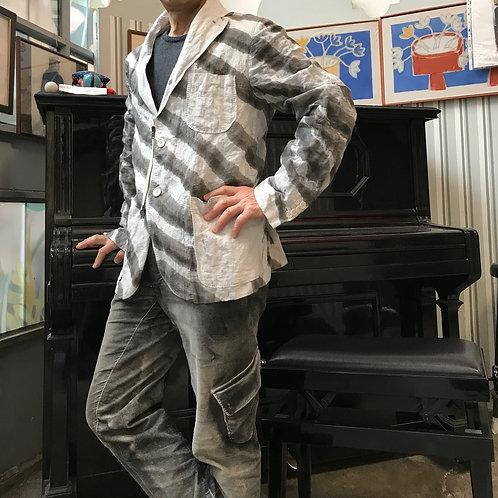 ファスナー付きハンドプリンティングジャケット