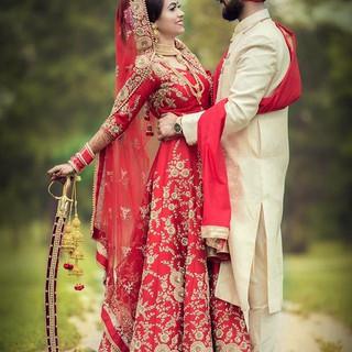 #bride & #groom #redcolour #weddingdress
