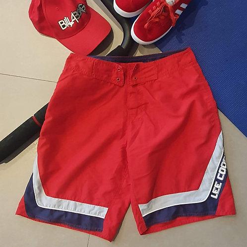 מכנס בגד ים אדום כחול תכלת - 38