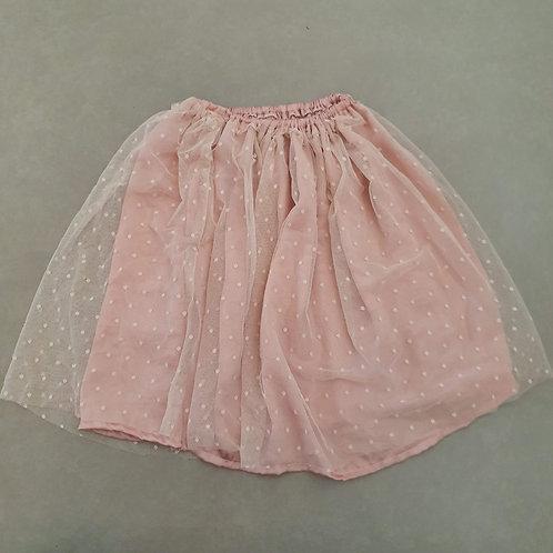 חצאית לרקדנית - עם טול נקודות מידה 8-10 שנים