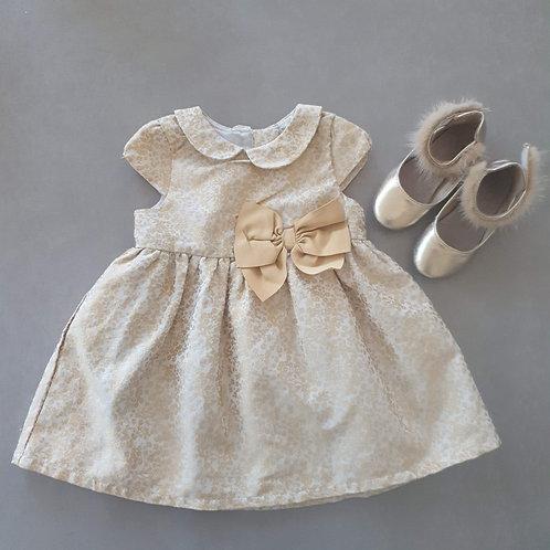 שמלת מפוארת בזהב - מידה 9-12 חד
