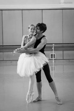 Black swan rehearsal
