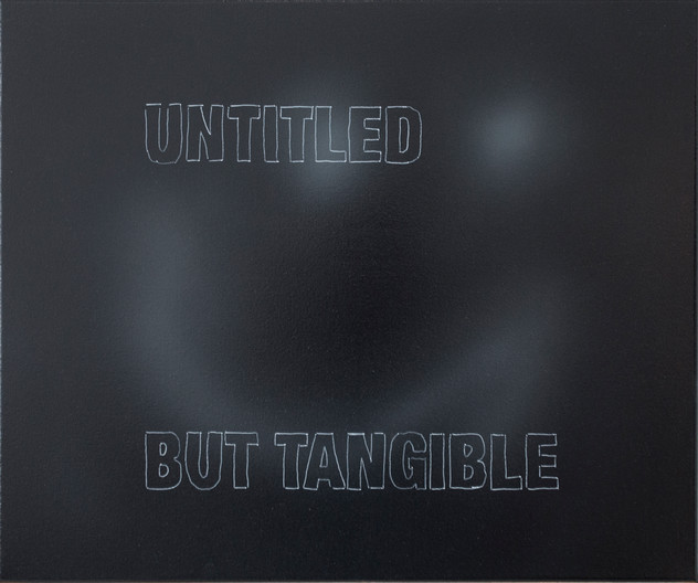 Untitled but Tangible 50cm x 60 cm, Spray Paint and Oil on Canvas 2021