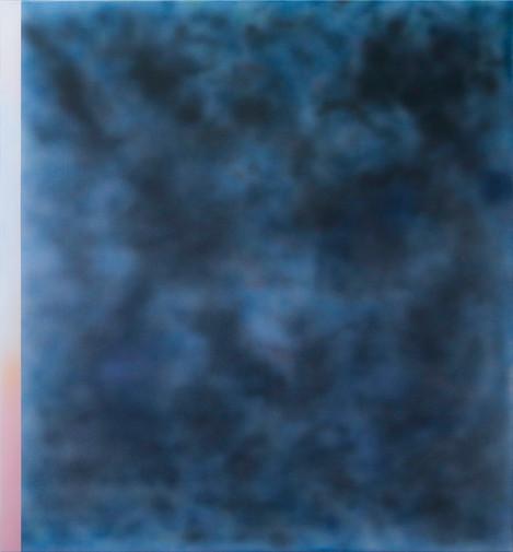 Clouds Blue Blur with Stripe