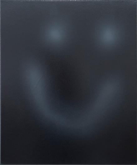 Happy Face, no oil on canvas, My friend Jojo 50cm x 60 cm, Spray Paint and Oil on Canvas 2021