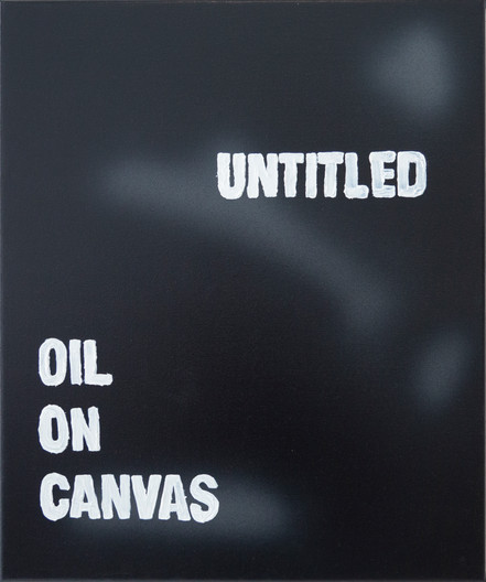 Untitled, Oil on Canvas 50cm x 60 cm, Spray Paint and Oil on Canvas 2021